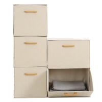 家居生活用品收纳箱布艺整理箱抽屉式收纳盒衣服箱子大号可折叠储物柜家用