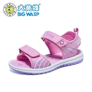 大黄蜂童鞋 女童休闲沙滩凉鞋2018夏季新款韩版防滑软底3-12岁