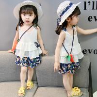 女童休闲套装女宝宝休闲套装潮洋气新款夏季中小童