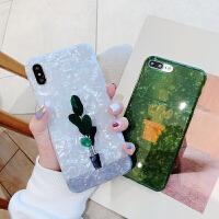 仙人掌贝壳纹苹果x手机壳iPhonex保护套7plus网红新款iPhone8plus个性创意xs m iPhone x