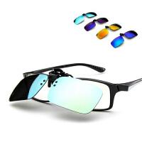 新款炫彩偏光夹片 司机偏光夹片镜 男女时尚彩膜夹片太阳镜