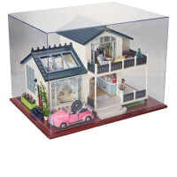 diy小屋手工制作房子别墅模型仿真建筑拼装玩具男生女孩生日礼物