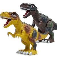 会走路电动恐龙玩具 灯光行走暴龙仿真恐龙 动物模型儿童玩具 颜色随机