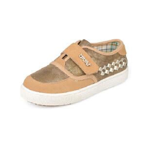 比比我2017秋款儿童板鞋男童运动鞋新款休闲鞋男童鞋韩版潮皮鞋子