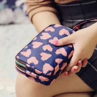 新款布艺女士长款钱包手拿包三层拉链帆布大屏手机包零钱包小包女