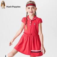 【3件3折:99元】暇步士童装夏季新款女童连衣裙时尚可爱拼接设计短袖POLO裙儿童连衣裙