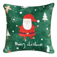 北欧布艺防水抱枕客厅沙发靠枕圣诞新年礼物靠垫床头大靠背抱枕套 +羽丝绒超细纤维填充
