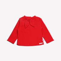 【2件3折:29.7】铅笔俱乐部女童加绒加厚打底衫2019新款小童宝宝纯色长袖T恤卫衣