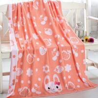 纯棉加厚儿童毛巾被卡通正方形大浴巾婴儿包被加大厚吸水110*110