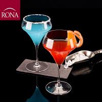 RONA 进口阿拉姆水晶玻璃鸡尾酒高脚杯 葡萄酒杯 红酒杯 香槟杯 460ml 2只装