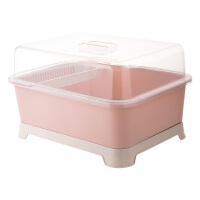 带盖碗碟架放碗架收纳盒沥水架装碗筷收纳箱厨房碗柜置物架