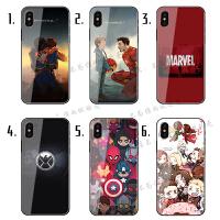 小米9玻璃镜面手机壳8SE探索6漫威MIX2S6X钢铁5X蜘蛛侠