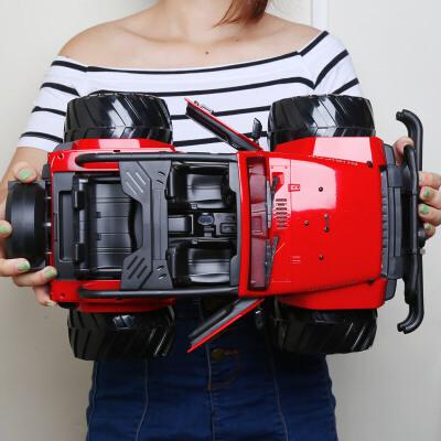 越野车开门充电汽车模型男孩玩具大号JEEP牧马人遥控车