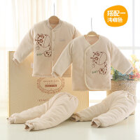 婴儿衣服棉衣套装新生儿礼盒0-3个月秋冬季满月初生宝宝用品