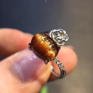 天然铜顺发晶戒指时尚女款指环扣