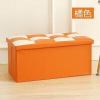 收纳凳 皮革换鞋凳储物凳大号整理箱可折叠沙发凳可坐人抖音同款
