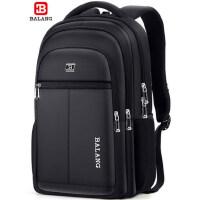 巴朗商务双肩包时尚潮流旅行背包大学生书包男休闲大容量电脑包