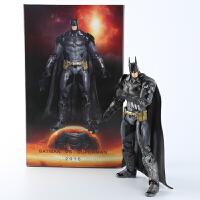 漫威系列英雄蝙蝠侠大战超人 模型关节可动公仔动漫摆件 蝙蝠侠(含盒装)