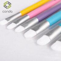 儿童马卡龙色画笔套装平头水粉笔绘油画丙烯画笔排笔刷美术6支装 马卡龙色画笔