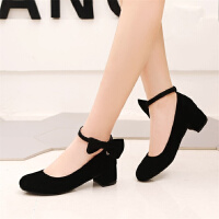韩版春季粗跟小高跟皮鞋小女孩公主童鞋红色舞蹈鞋女童表演鞋SN0518 30 脚长20cm