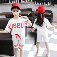 童装女童夏季运动套装新款韩版时尚中大童休闲宽松两件套短袖