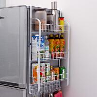 【领券满减】ORZ 大容量冰箱侧挂架置物架 多功能厨房用品收纳架挂架调味瓶餐具储物架