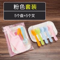 餐具套装一次性刀叉碟套装生日刀叉盘组合定制logo