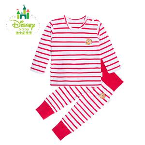 【3件4折】迪士尼Disney婴儿春秋海军风 男女宝宝肩开扣无领套装153T635