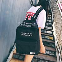 韩版旅行双肩包男高中学生书包男时尚潮流大学生帆布刺绣电脑背包