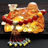 琉璃佛汽车摆件弥勒佛像中控台摆设创意男女车载车内装饰车饰用品