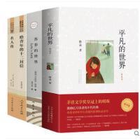 全套4册苏菲的世界正版包邮初中必读给青年的十二封信朱光潜著平凡的世界路遥名人传初中生版中学生八年级下册必读的课外名著书