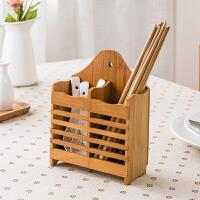 家用竹木筷子笼挂式沥水筷子架快筒筷笼厨房用品勺子筷子筒筷子盒