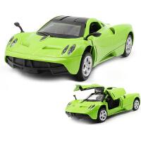 小汽车模型车模儿童玩具车声光回力车轿车礼物 风之子-绿 盒装