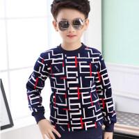 童装新款男童保暖内衣加绒加厚儿童保暖上衣单件秋冬季长袖保暖衣