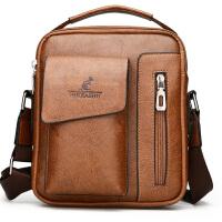 新款男包单肩包真皮公文包男士包包手提包竖款休闲斜挎包