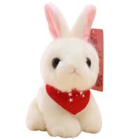 小号娃娃女孩生日礼物 萌可爱小白兔公仔毛绒玩具韩国仿真兔子