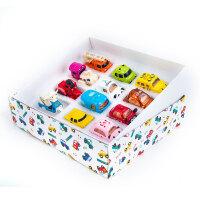 儿童玩具车男孩2岁合金回力模型小汽车工程车口袋迷你小车Q版套装 12辆礼盒