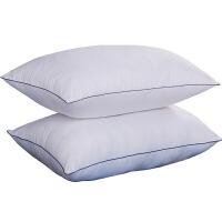 被子家纺枕头羽丝绒枕芯护颈枕饱满舒适 白色压花枕