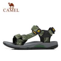 camel 骆驼户外凉鞋 男女2018夏季舒适魔术贴防滑弹力时尚沙滩鞋