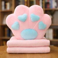 多功能午睡枕头抱枕被子两用可爱韩国卡通办公室汽车靠垫珊瑚绒被 抱枕40x45cm毯子1x1.7m