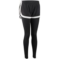 假两件运动裤女秋冬紧身弹力速干长裤跑步裤瑜伽裤健身裤