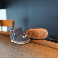 宝宝雪地靴男0一1-3岁加绒加厚鞋子女童软底防滑冬季小童学步鞋潮
