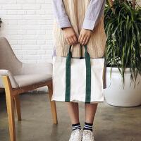 日韩学院风文艺斜跨手提帆布包袋学生休闲复古小清新手拎简约布包