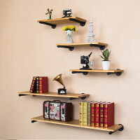 墙上置物架壁挂书架铁艺实木墙壁一字隔板搁板层板置物板机顶盒架