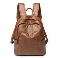 双肩包女2018新款韩版潮百搭软皮牛皮真皮休闲背包旅游旅行包书包