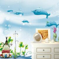 【支持礼品卡】幼儿园婴童儿童房男孩无纺布卧室卡通无缝壁纸壁画墙纸m4r