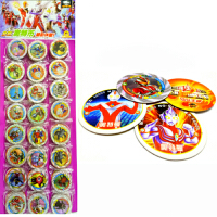 儿童玩具七龙珠赛尔号穿越火线圆形战斗卡片植物小圆卡片硬纸闪卡 直径4.6cm圆纸卡