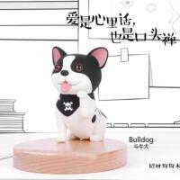 小狗手机支架桌面创意手机架卡通架子可爱狗狗手机座定制礼品