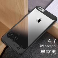 苹果6手机壳iPhone6plus套透明6s女个性创意超薄新款软i6防摔硅胶