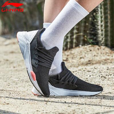 李宁休闲鞋女鞋春秋季女子倾城一体织袜套透气轻便复古经典运动鞋